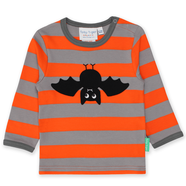 Toby Tiger T-Shirts Organic Bat Applique LS T-Shirt organic childrens clothes
