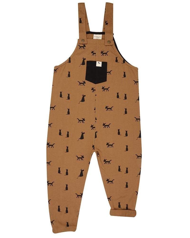 Turtledove London Dungarees Cats + Dogs Easy Fit Dungarees organic childrens clothes