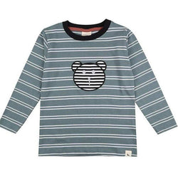 Turtledove London T-Shirts Steel Stripe Applique Top organic childrens clothes