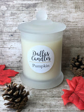 Load image into Gallery viewer, pumpkin candle uk, dallas candles, soy wax candles, free postage, plastic free