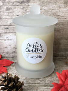 pumpkin candle uk, dallas candles, soy wax candles, free postage, plastic free