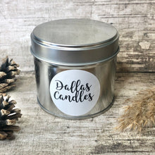 Load image into Gallery viewer, unscented soy wax candle, silver ,Dallas Candles