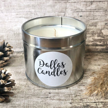 Load image into Gallery viewer, unscented soy wax candle silver Dallas Candles