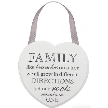 Grey and White Heart Plaque - Tree of Life