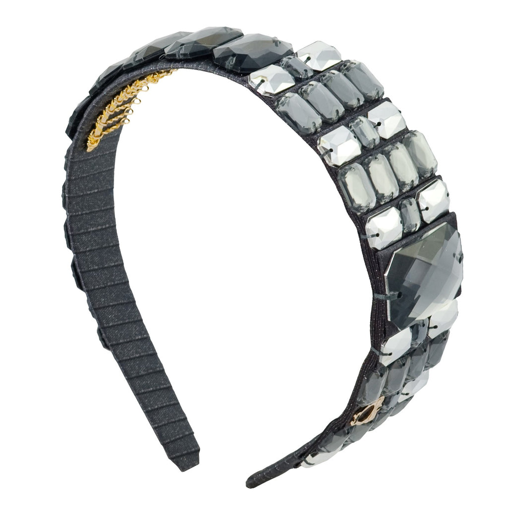 Mandy Charcoal Bejewelled Headband