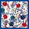 Orla Ermanno 70cm Flowers, Black, White, Red & Blue Scarf