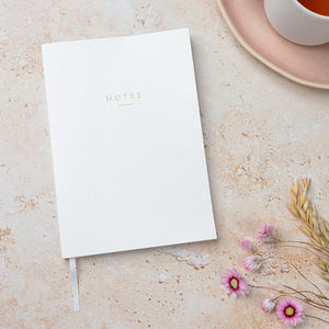 A5 White 'Notes' Notebook