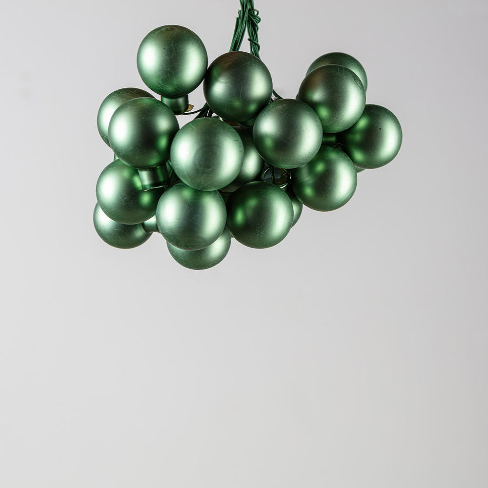 Glass Bauble On Wire Sage Green