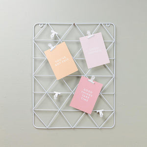White Wire Wall Grid