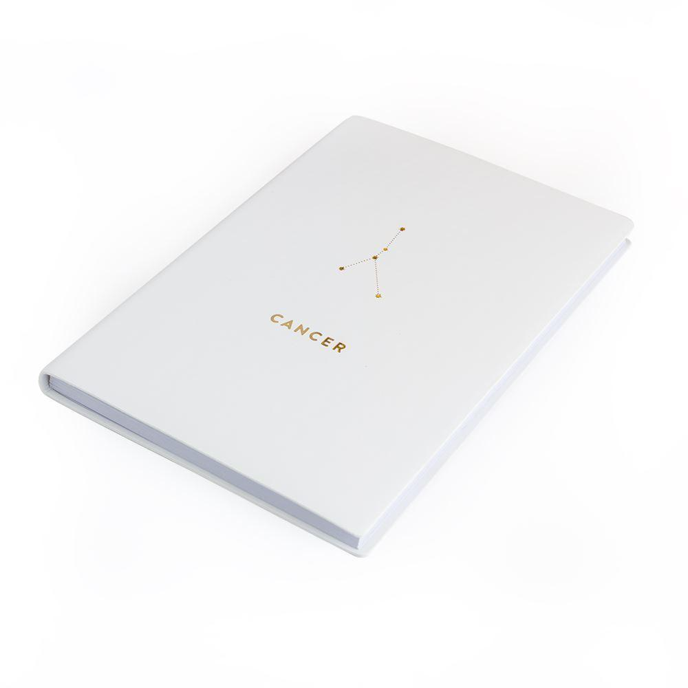 Cancer Metallic Gold Zodiac Notebook