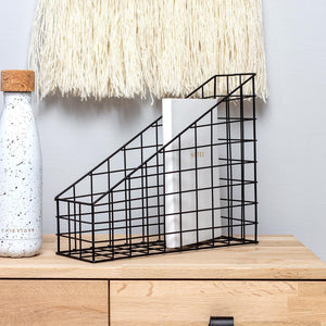 Black Wire Desk Organiser