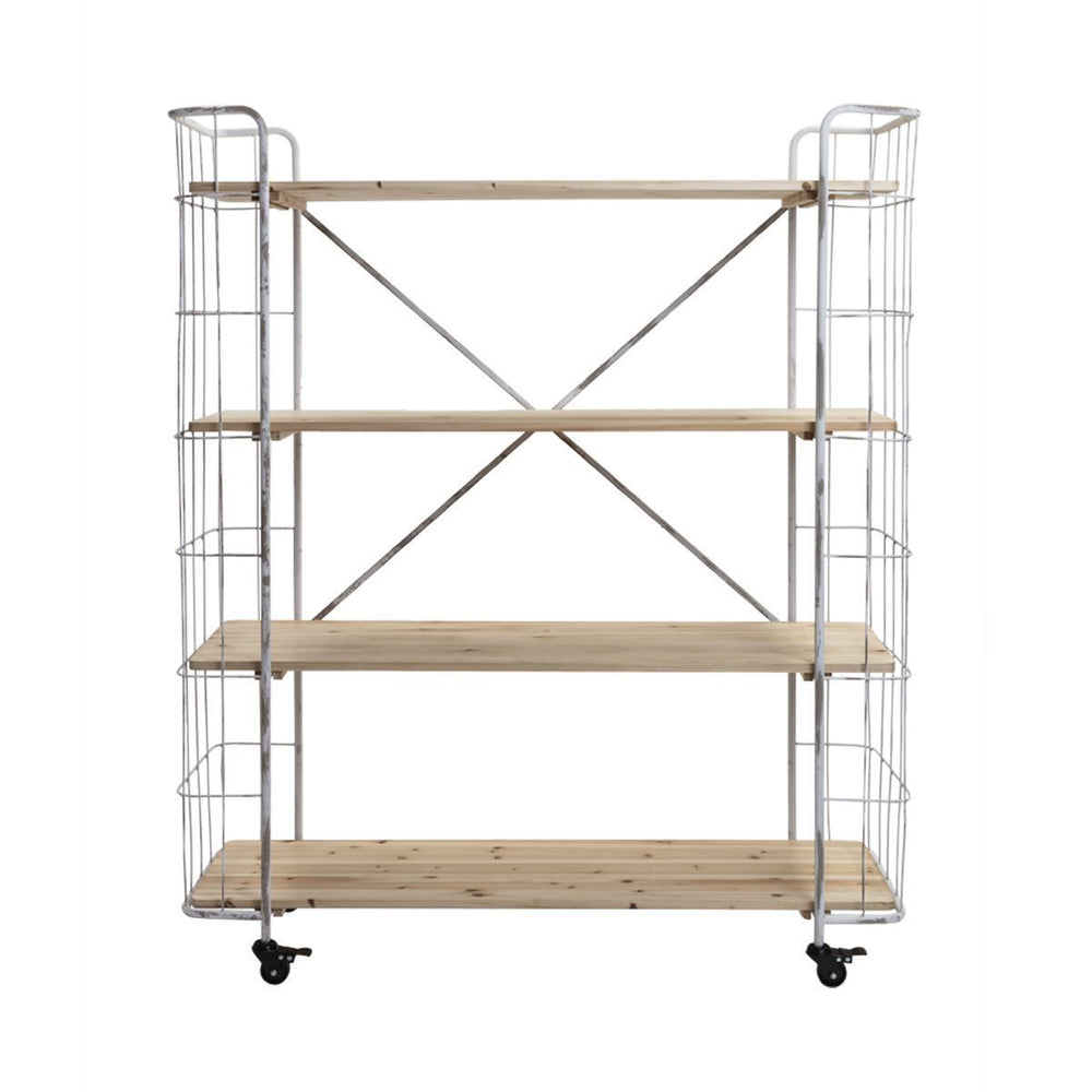 Small White Industrial Shelving Unit