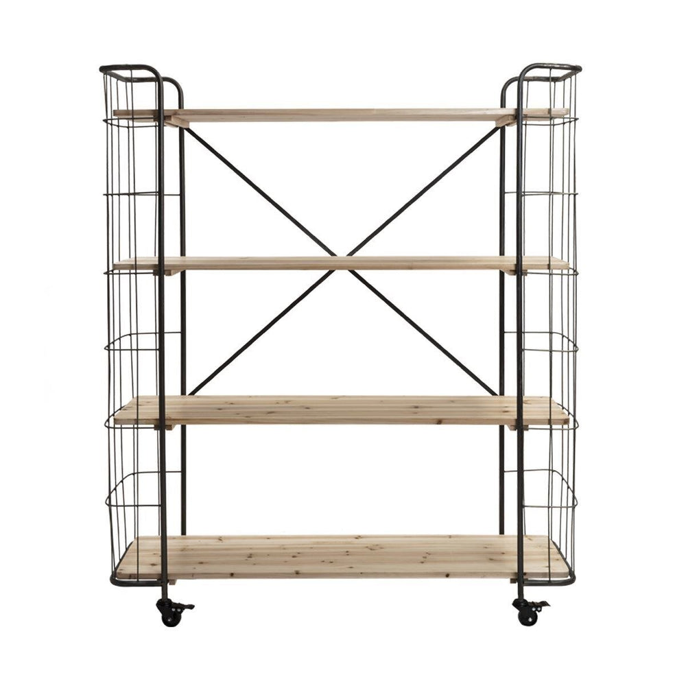 Small Black Industrial Shelving Unit