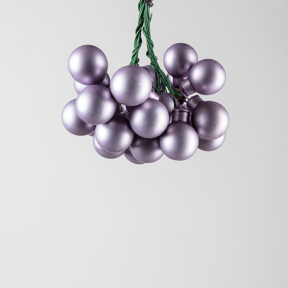 Glass Bauble On Wire Frosted Lilac