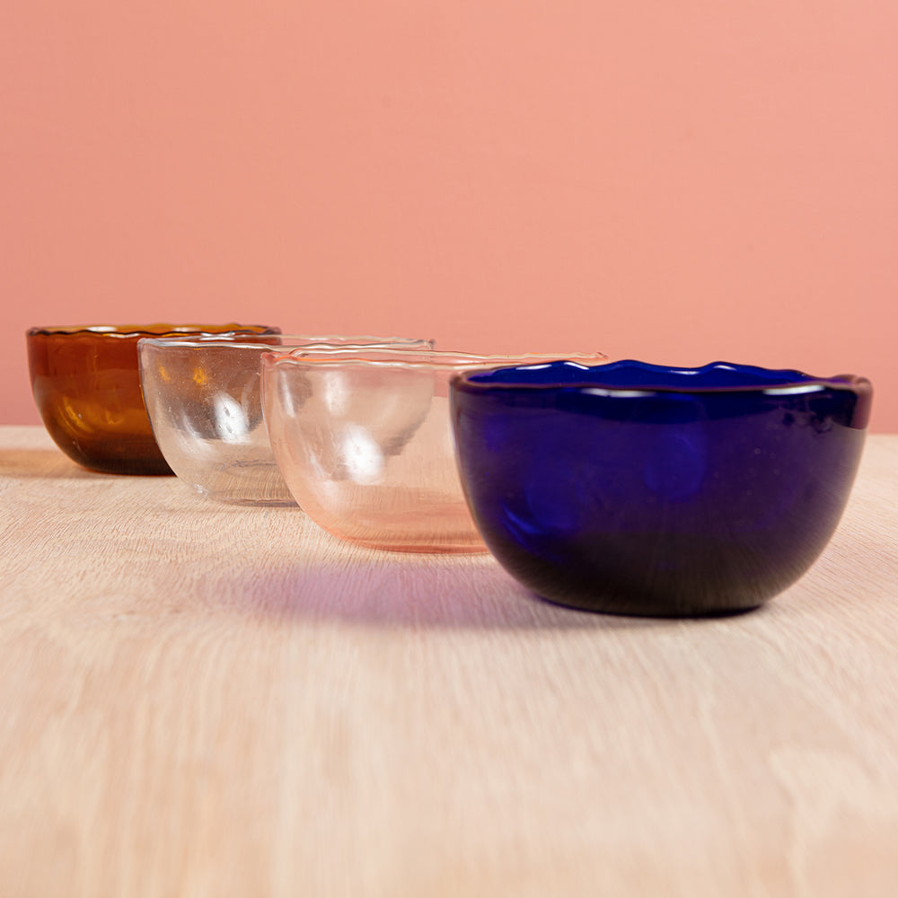 Dulari Glass Nibbles Bowl Clear