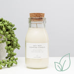 Balance and Renew Milk Bottle Candle