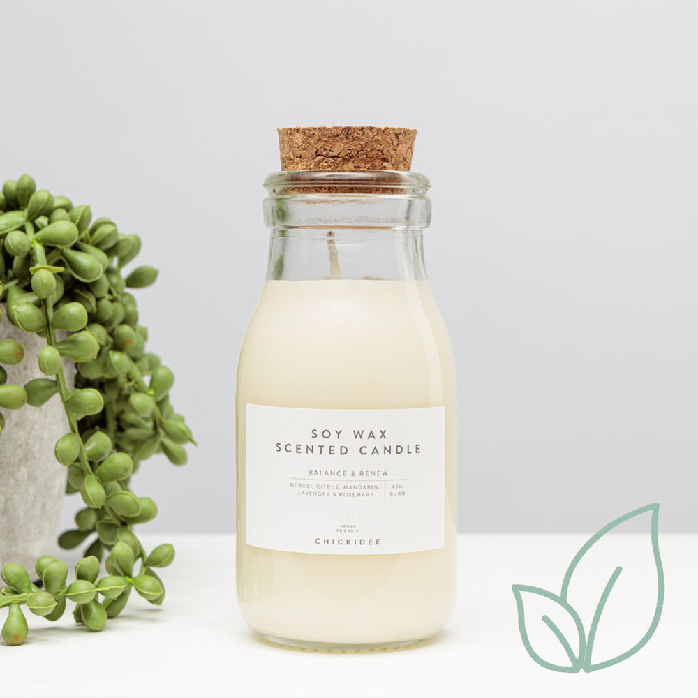 Balance and Renew Neroli Milk Bottle Candle
