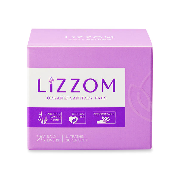 LiZZOM Organic Ultrathin Daily liners (20 Liners)