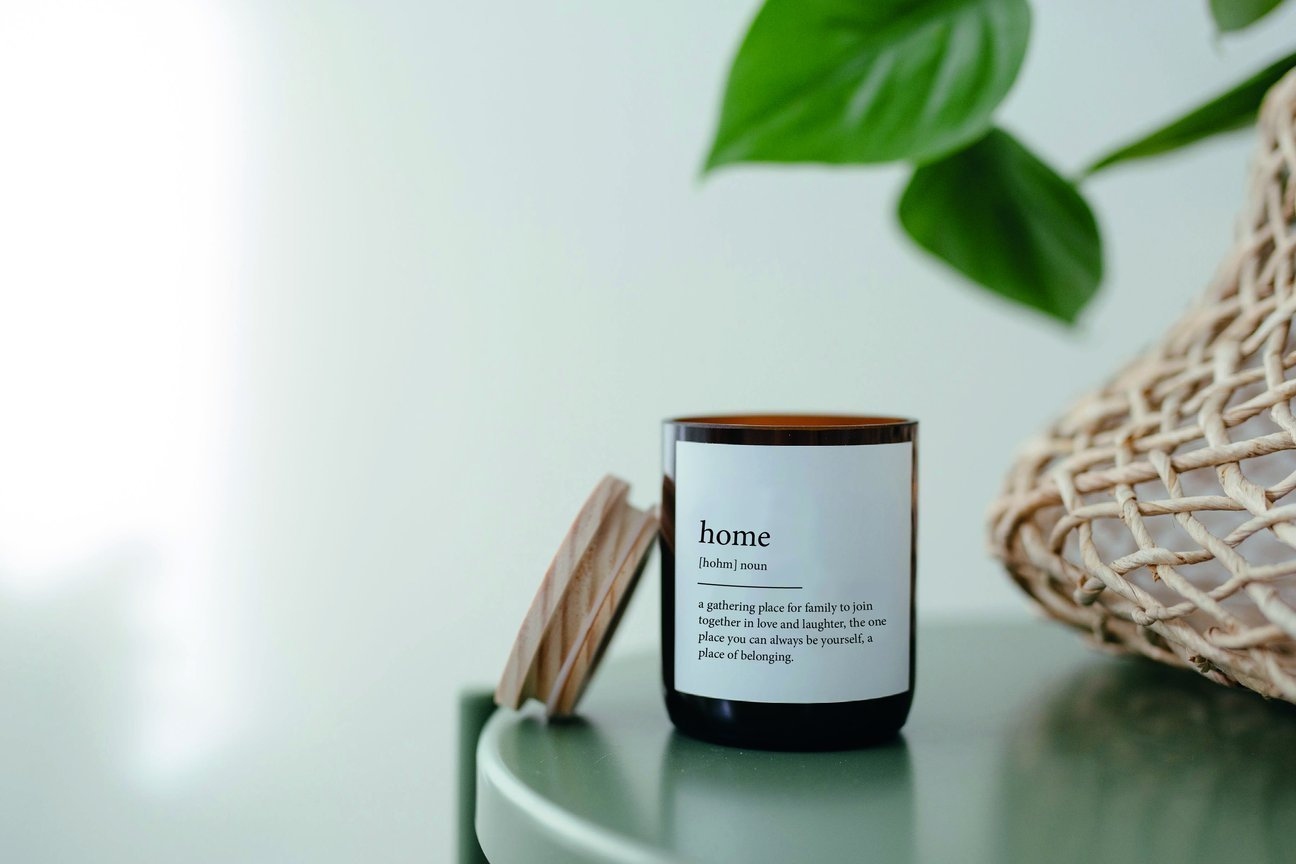 Dictionary definition candle with the smell of strong memories of home