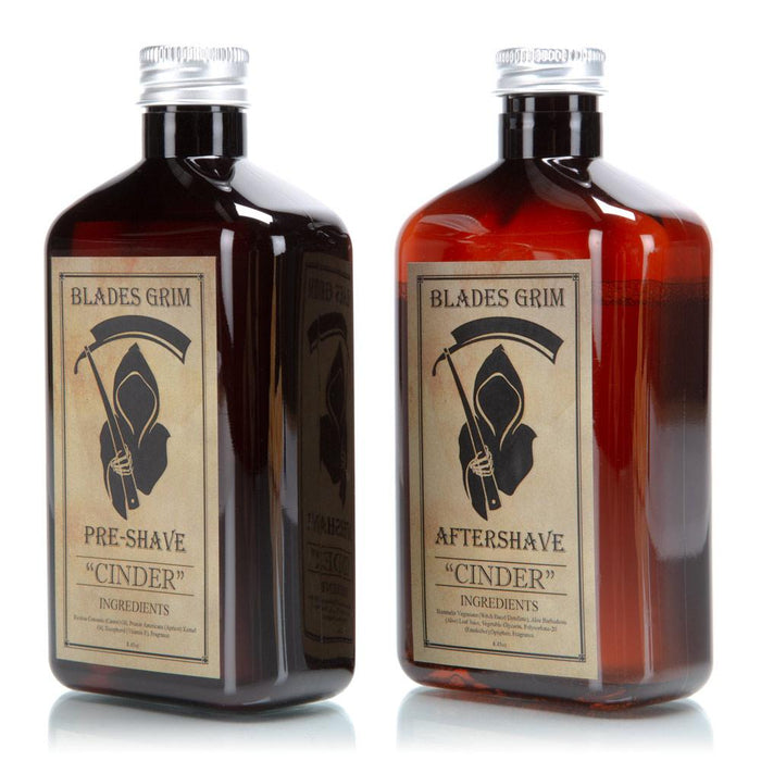 The Blades Grim Aftershave Pre-Shave Combo - 8.45oz  - Cinder