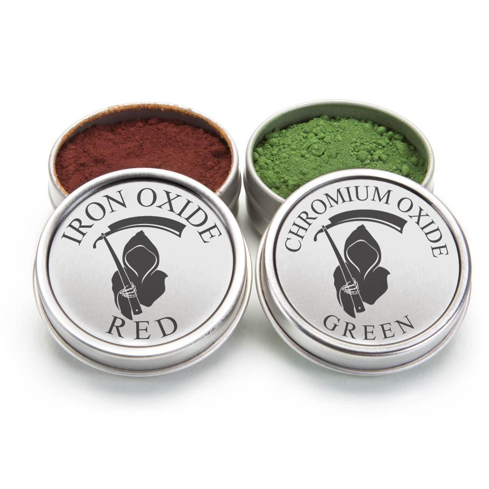 STROP POWDER 1 GREEN .3 MICRON AND 1 RED .1 MICRON PACK