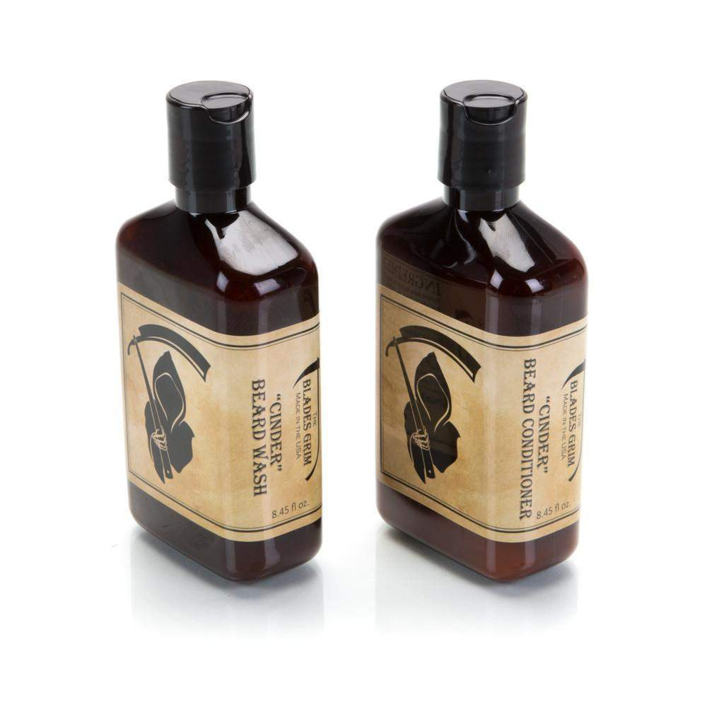 Cinder Beard Wash and Conditioner Combo - By The Blades Grim-