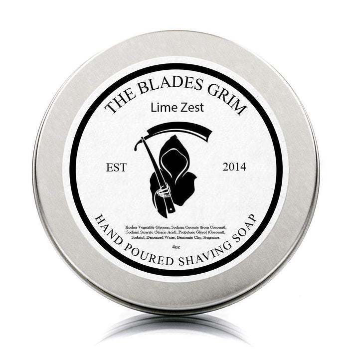 "Lime Zest - The Blades Grim 3"" Shave Soap-"