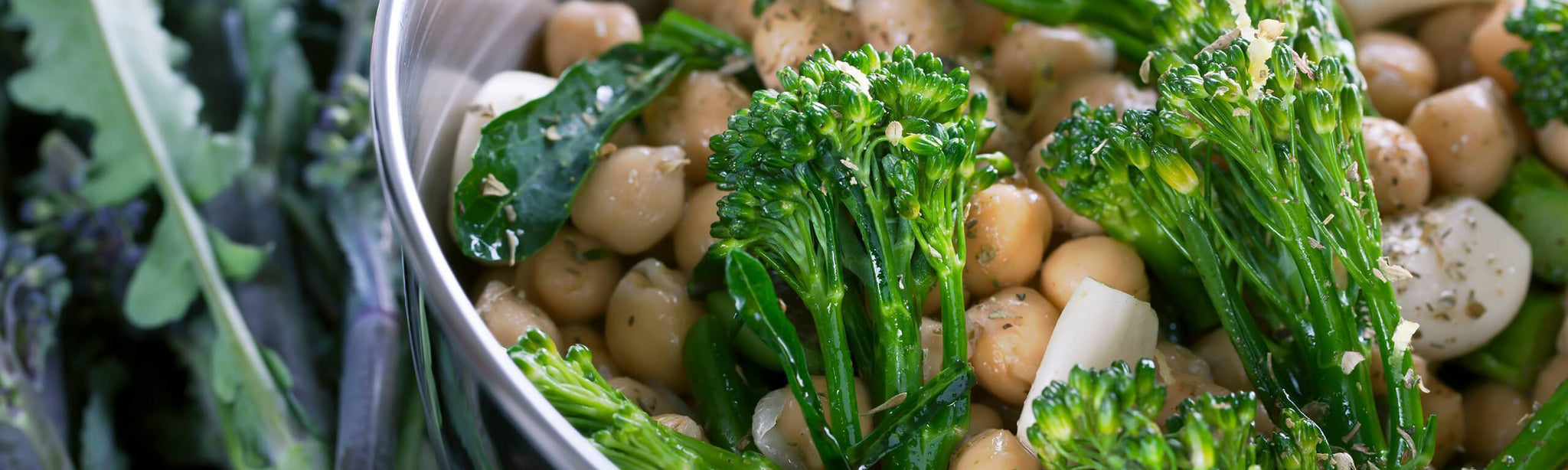 Sesame Broccoli with Chickpeas