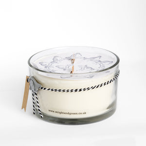 White Patchouli 450g 2 Wick Candle