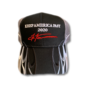Keep America Fast Flames Trump 2020 Snapback Hat