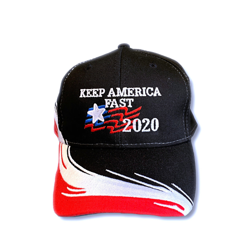 Keep America Fast Multi Color 2020 Flag Snapback Hat