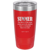 Summer The Time Of The Year -Tumbler