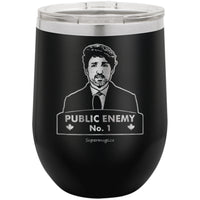 Trudeau Public Enemy Number One - Wine Glass