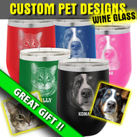 Custom Pet Design - Wine Glass