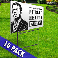 Stay Off My Driveway & Public Health Enemy # 1 Signs- 10 Pack Set