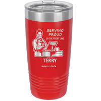 Copy of Standing Proud On The Front Lines Male Cashier - tumbler