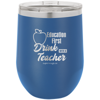 Education First - Drink With A Teacher graphic - Wine glass