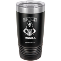 Supermom Graphic With Cape - tumbler