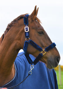 Eclat Luxury Rose Gold Fluffy Headcollar
