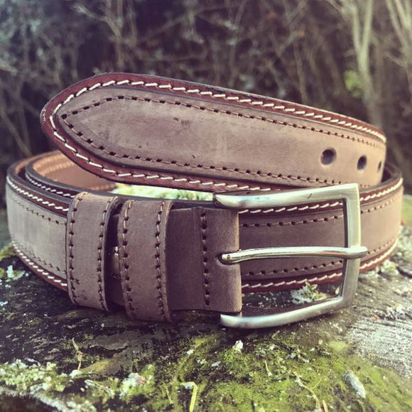 Franco Italian Leather Belt (Brown)