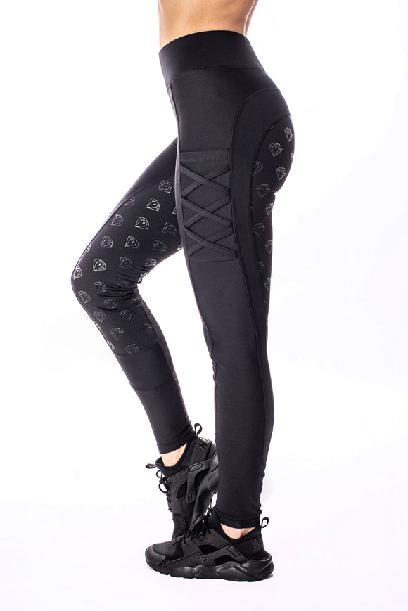 YR Full Seat Riding Leggings (Black)