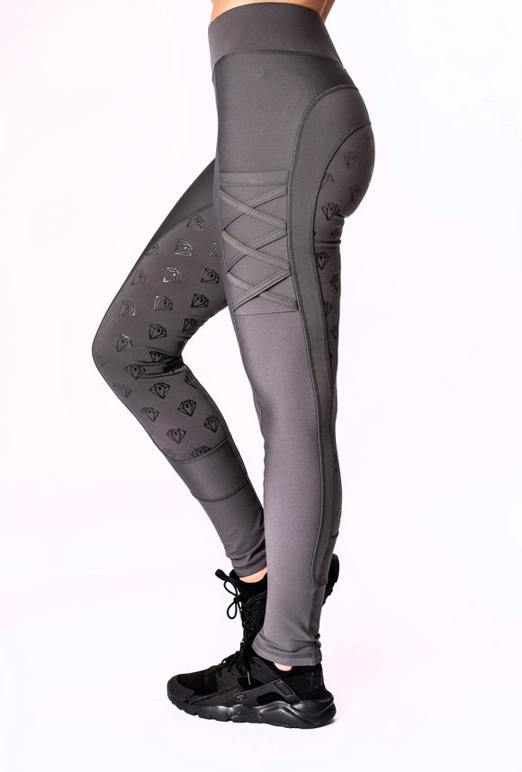 Full Seat Riding Leggings (Grey)