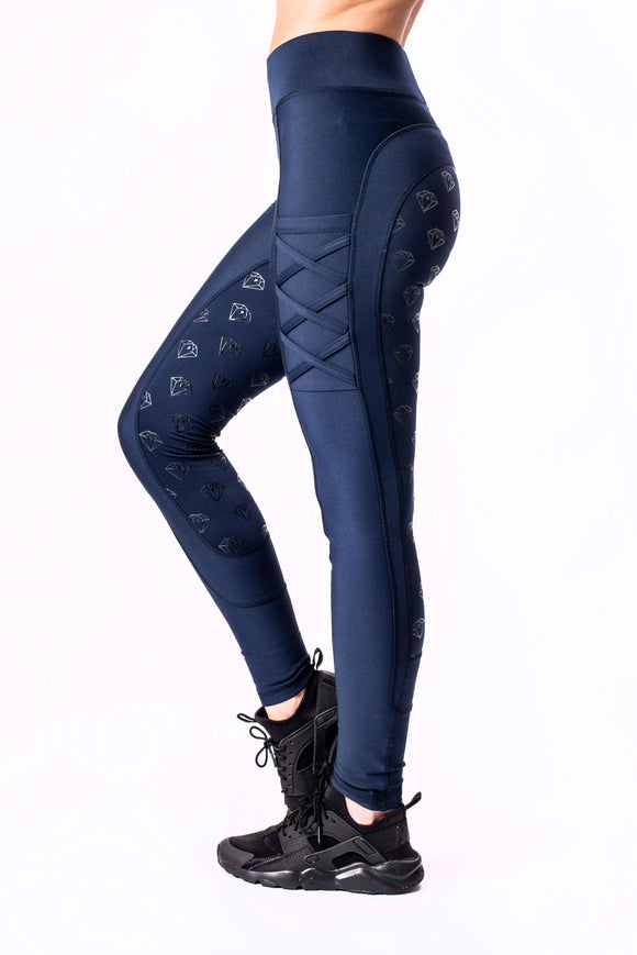 YR Full Seat Riding Leggings (Navy)