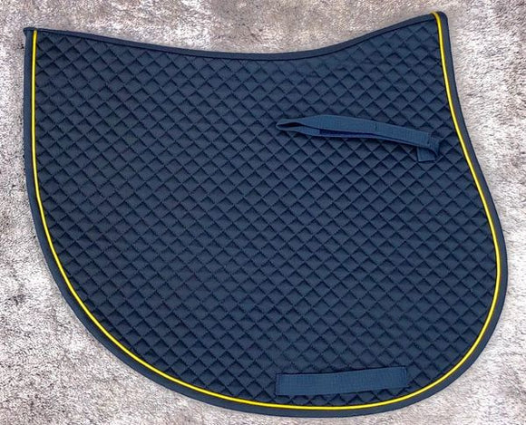 Jump Cut Saddle Pad (Navy/Gold)