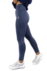 Denim Look Leggings (Blue)