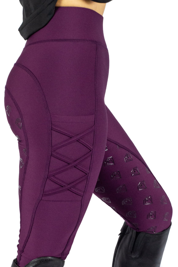 Full Seat Leggings (Berry)