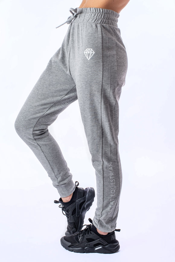 Ruched Joggers (Grey)
