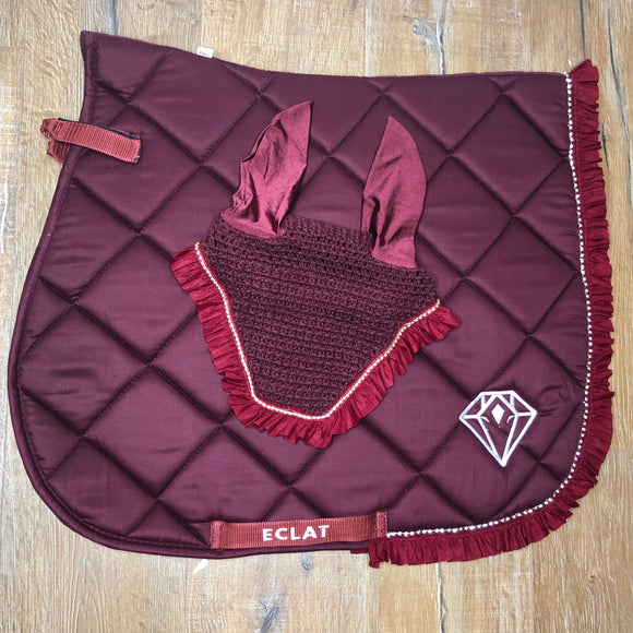 'All the Frills' Set (Burgundy, Hybrid Shape)