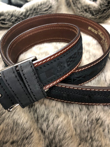 Franco Italian Leather Belt (Black)