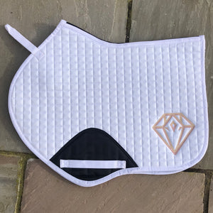 Signature CC Saddle Pad (White)